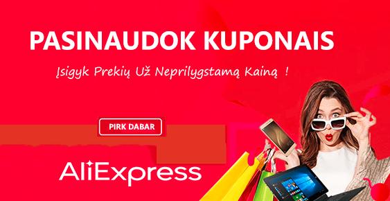 Aliexpress kuponai, promo kodai, nuolaidos ir akcijos
