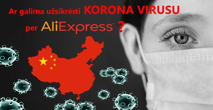 Korona virusas per Aliexpress siuntinius