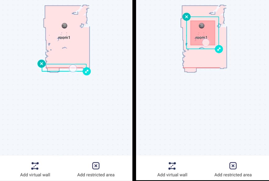 Xiaomi Viomi V3 siurblio roboto programos zemelapis
