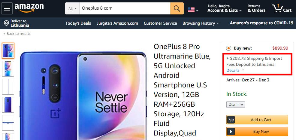 Amazon muito mokestis