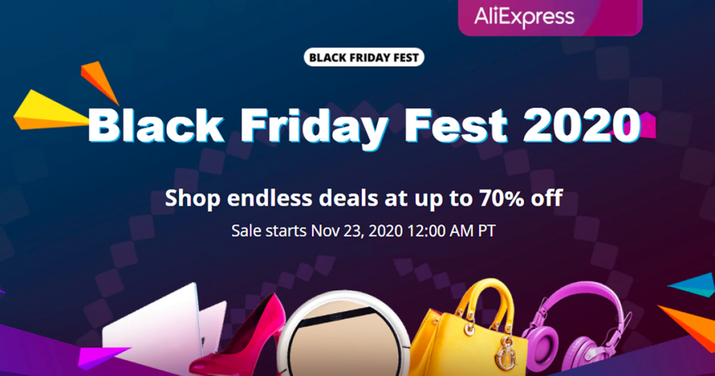 Aliexpress Black Friday 2020 nuolaidos